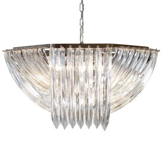 "Customizable Murano Glass ""Curve"" Chandelier For Sale"