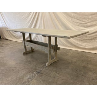 Swedish Painted Trestle Dining Table Preview