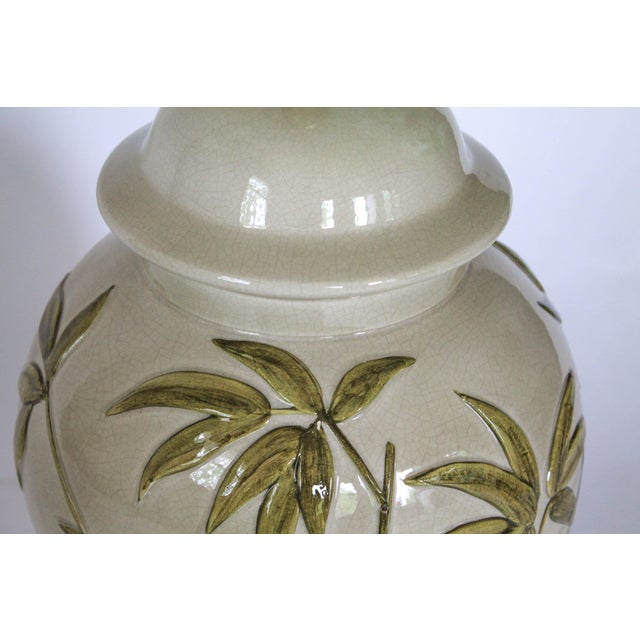Brass Frederick Cooper Table Lamp W/ Bamboo Motif For Sale - Image 7 of 11