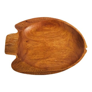Vintage Wood Fish Tray For Sale