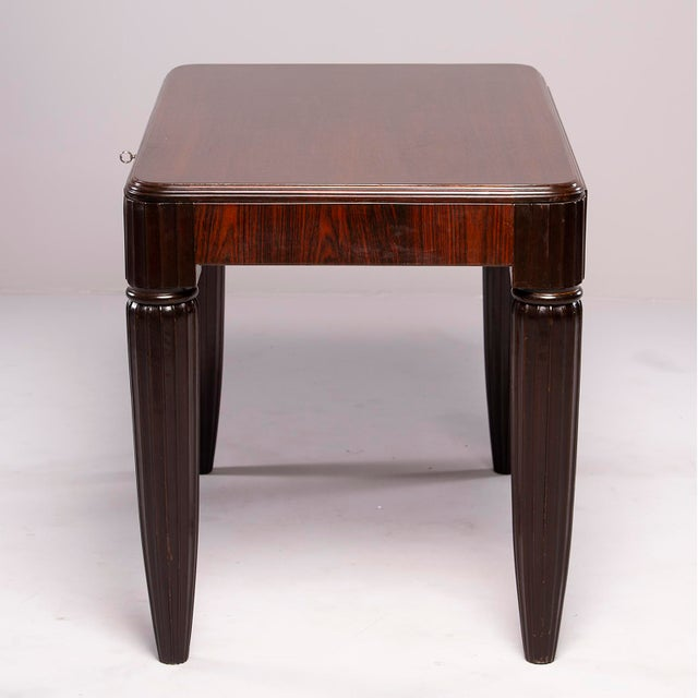 1930s French Rosewood Writing Table With Fluted Legs For Sale - Image 9 of 12