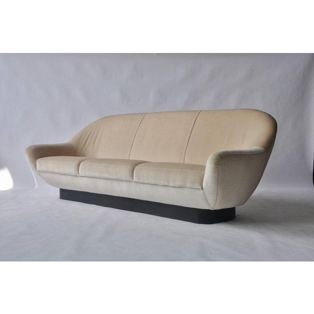 White 1960s Sofa by Hans Kaufeld For Sale - Image 8 of 8