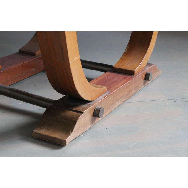 French 1940s Art Deco Style Rosewood Dining Table - Image 8 of 9