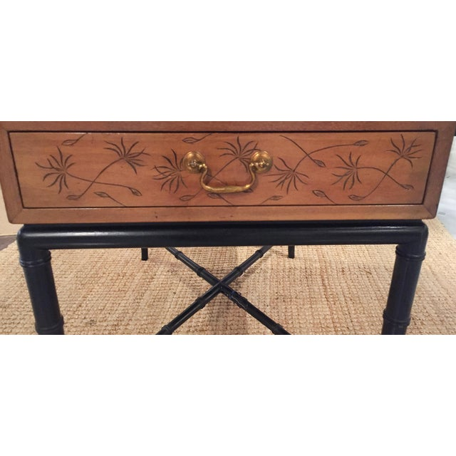 Mid-Century, Signed Kittinger Faux Bamboo Side Table - Image 4 of 8