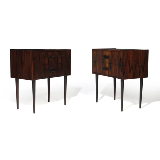 Kai Kristiansen Danish Rosewood Nightstand Bedside Tables With Drawers - a Pair For Sale - Image 4 of 9