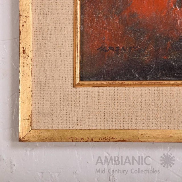 1960s Mid-Century Modern Abstract Painting For Sale - Image 5 of 9