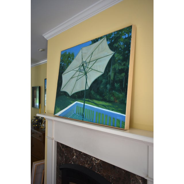 Stephen Remick Summer on the Back Deck Painting For Sale - Image 10 of 13