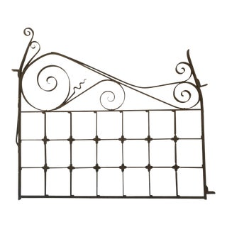 Late 19th Century Wrought Iron Gate, Garden Fence Door Ornamental For Sale