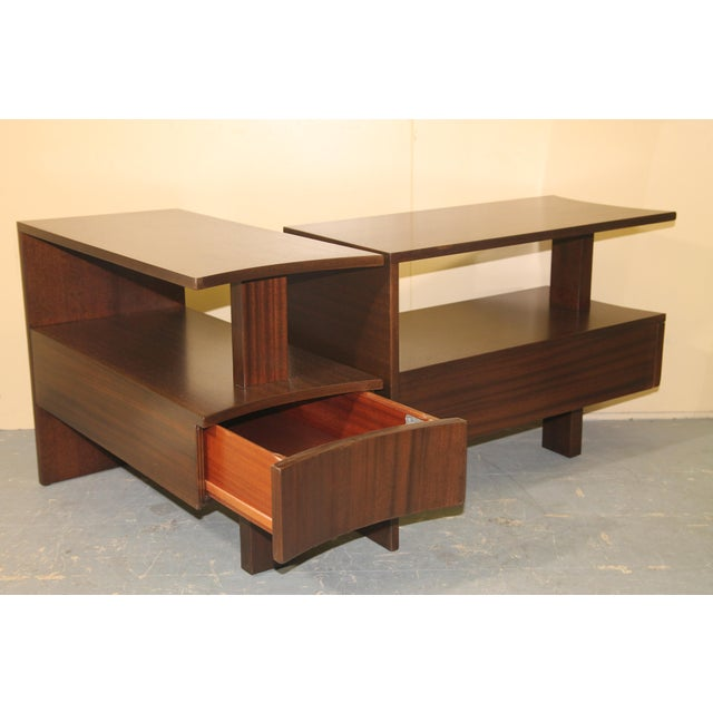 Art Deco 1930s Modernage African Mahogany Side Table For Sale - Image 3 of 10