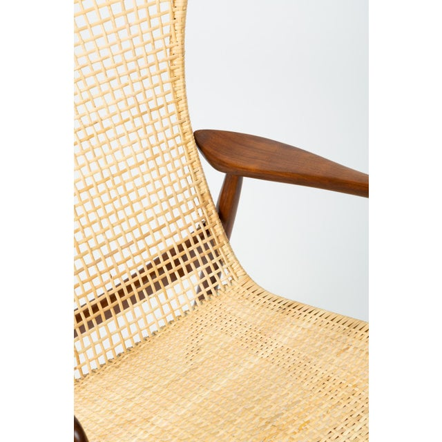 Lounge Chair With Cane Seat by Ib Kofod-Larsen for Selig For Sale - Image 10 of 13