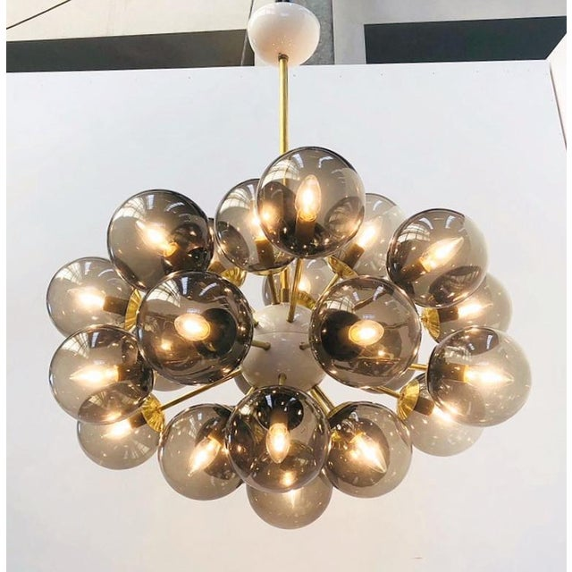 Fabio Ltd Ovale Sputnik Chandelier by Fabio Ltd For Sale - Image 4 of 9