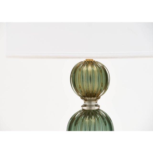 Green Avventurina Murano Glass Lamps For Sale - Image 4 of 10