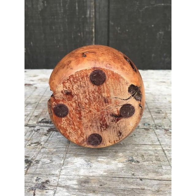 Wood Burl Bud Vase For Sale - Image 9 of 10