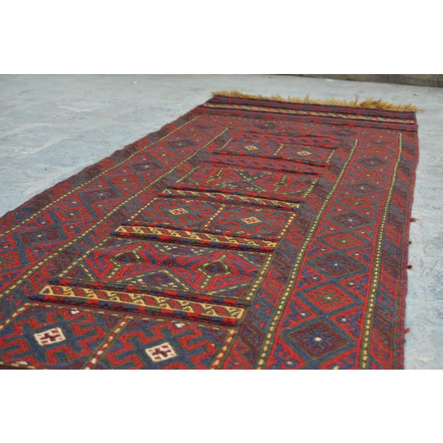 "Afghan Tribal Kilim Rug Runner-2'2'x10'1"" For Sale In Orlando - Image 6 of 12"
