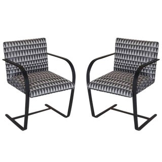 Late 20th Century Vintage Flat Bar Brno Chairs - A Pair For Sale