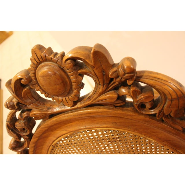 Vintage Carved Accent Chair - Image 10 of 11