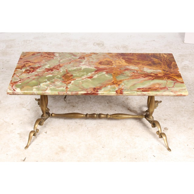 1930s Onyx & Brass Coffee Table - Image 2 of 6