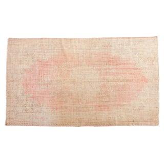 "Vintage Distressed Oushak Carpet - 6'2"" X 10'8"" For Sale"