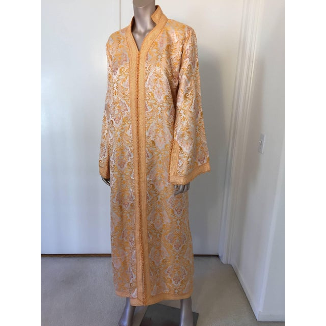 1970s Moroccan Brocade Bohemian Handmade Vintage Kaftan For Sale - Image 10 of 10