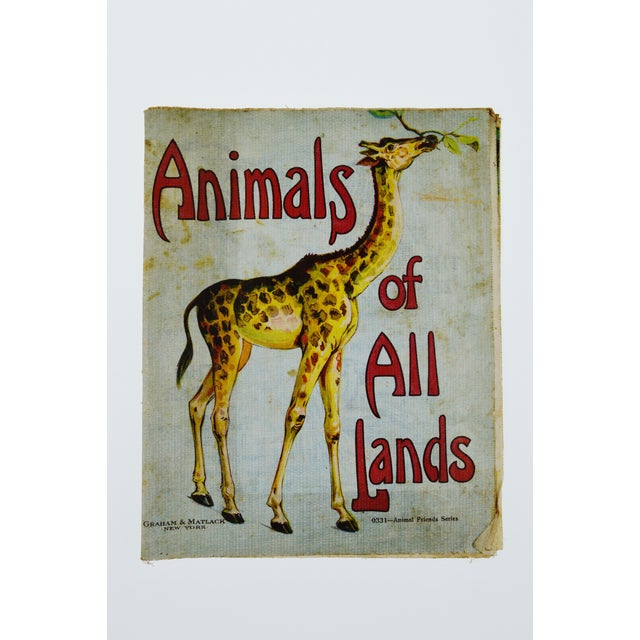 """Animals of All Lands"" Linen Children's Book - Image 2 of 11"