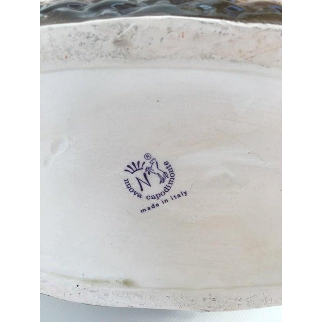 Vintage Italian Crown Capodimonte Porcelain Floral Arrangement For Sale - Image 9 of 11