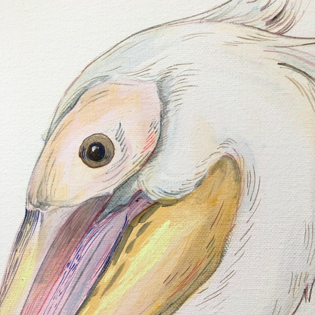 """""""My Mykonos Morning"""" is a breath of fresh air with native plants and flowers of Greece. The pelican is inspired by..."""