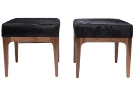 Image of Animal Skin Ottomans and Footstools