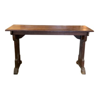 19th Century French Oak Console Table For Sale
