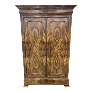 French Walnut Louis Philippe Armoire For Sale