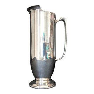 1970's Italian Silver Plate Water Pitcher For Sale