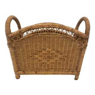 Boho Chic Style Wicker Planter/Basket For Sale