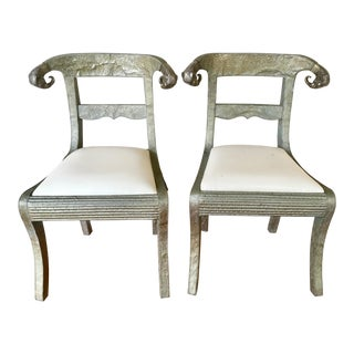Vintage Anglo-Indian Ram Head Wedding Chairs - a Pair For Sale