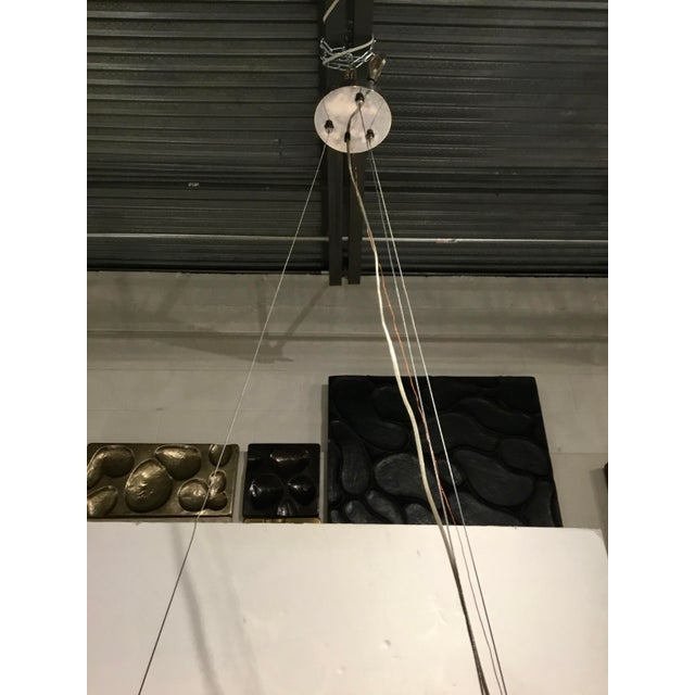 Arteriors Modern Silver Metal and Glass Lorena Fixed Chandelier For Sale In Atlanta - Image 6 of 7