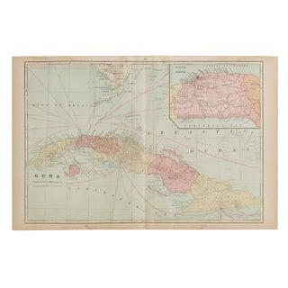 Cram's 1907 Map of Cuba