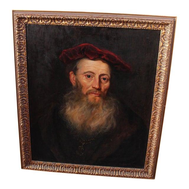 """Vintage """"Portrait of a Gentleman"""" After Flinet - Image 1 of 6"""