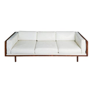 Rosewood and Leather Case Sofa by Milo Baughman for Thayer Coggin, Circa 1960 For Sale