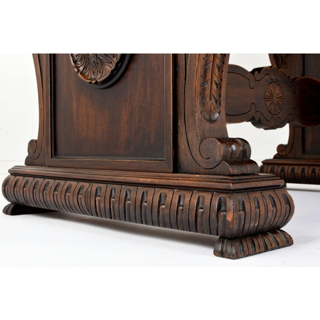 Antique Italian Baroque-style Desk or Library Table - Image 4 of 8