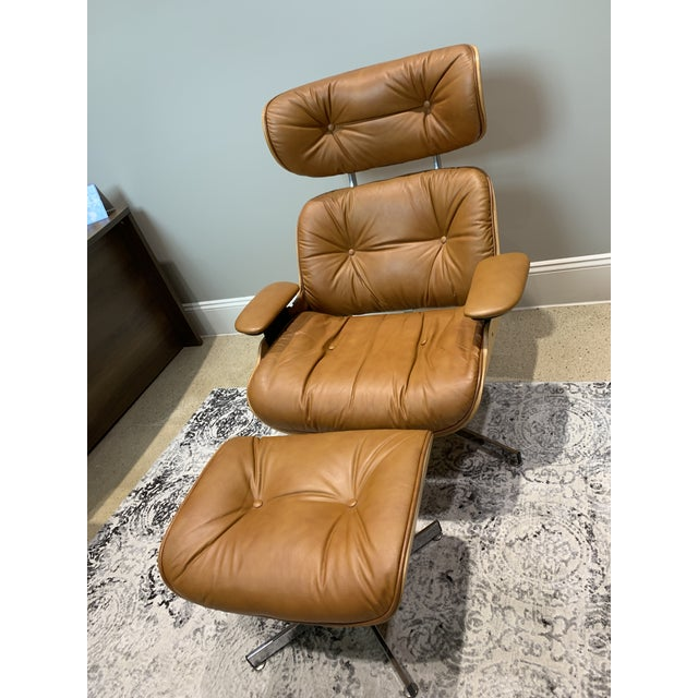 Vintage Mid Century Selig Manufacturing Company Chair & Ottoman For Sale - Image 13 of 13