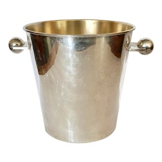 Silverplate on Brass Art Deco Ice Bucket