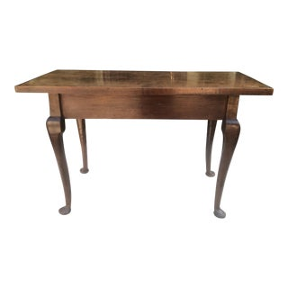 Antique Queen Anne Walnut Sofa Table For Sale