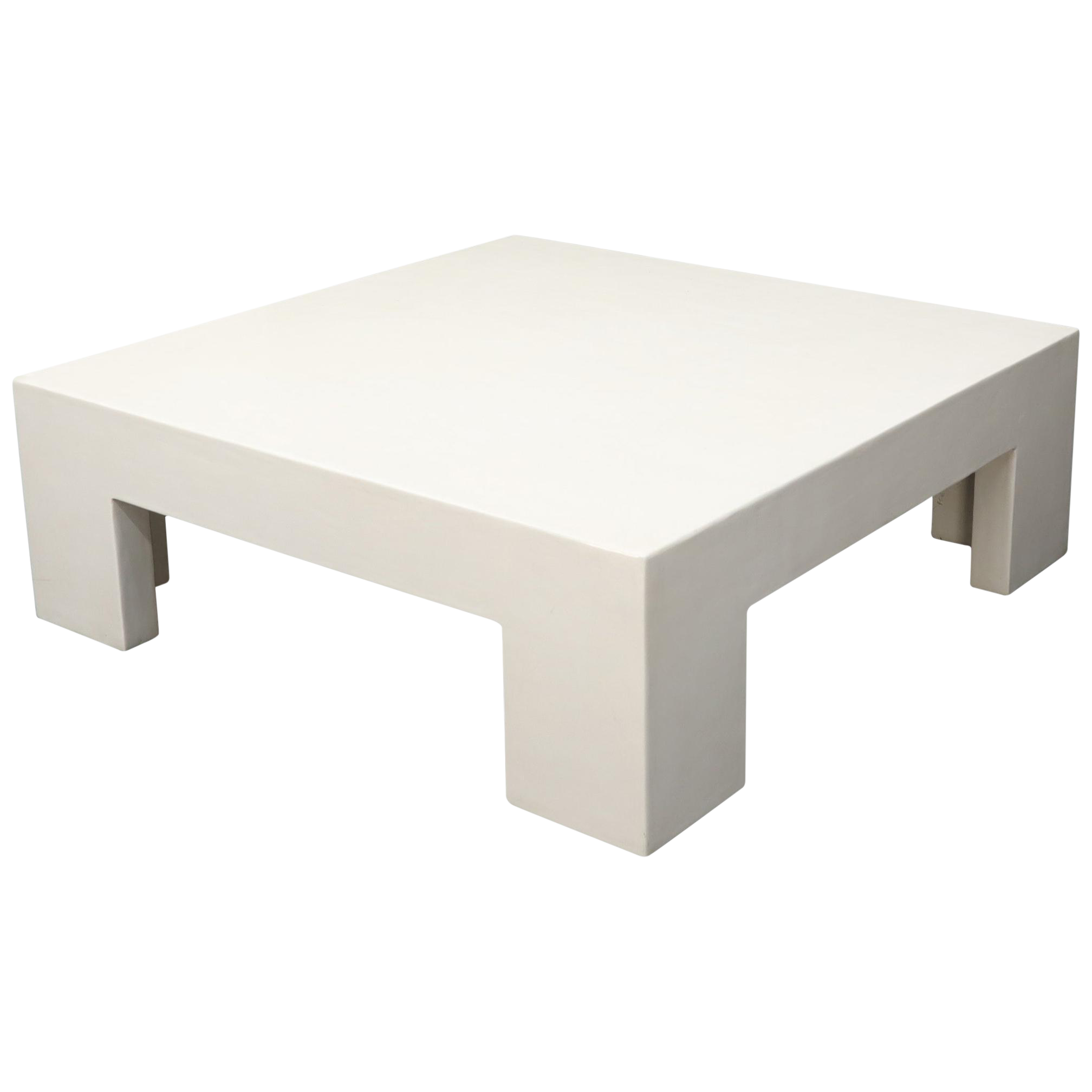 - Robert Kuo Large Square White Enamel Lacquer Coffee Table Chairish