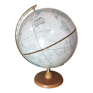 Cram's Retired Beige and Blue Imperial World Globe For Sale