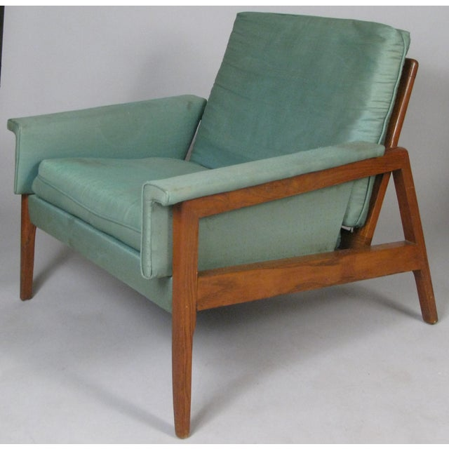 Mid-Century Modern 1950s Walnut Lounge Chairs - a Pair For Sale - Image 3 of 9