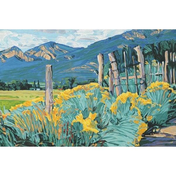 Expressionism Mid-Century Southwest Landscape Serigraph Print For Sale - Image 3 of 8