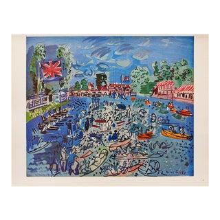 1940s Raoul Dufy Cowes Regatta Original Period Swiss Lithograph For Sale