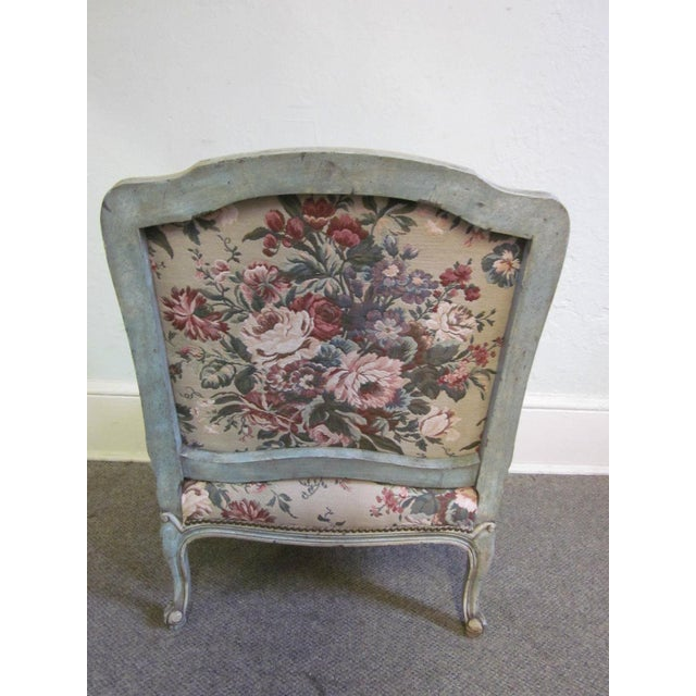 Stoneleigh Ltd. Louis XV Fauteuil Chair & Ottoman For Sale - Image 4 of 10