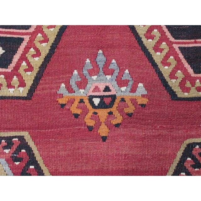 Textile Sharkisla Kilim Wide Runner For Sale - Image 7 of 9