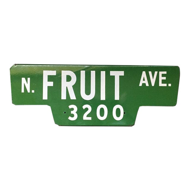 Vintage Street Sign, N Fruit Ave - Image 1 of 3