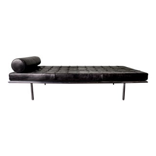 Covetable 1962 Chrome Base Van Der Rohe Barcelona Daybed for Knoll International, 20th Century