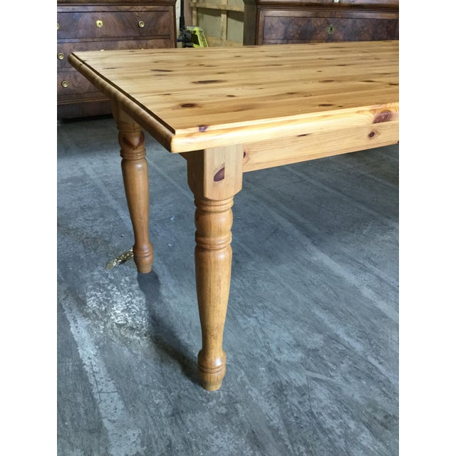 French Vintage French Pine Farm Table For Sale - Image 3 of 7